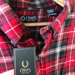 Men's Chap's Flannel Button-up Shirt
